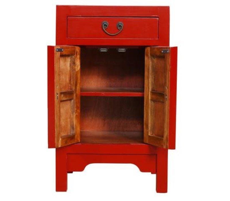 Mesita de Noche China Roja Suerte A42xP35xA70cm
