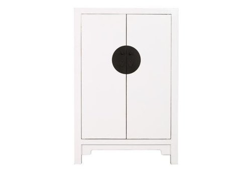 Fine Asianliving Designed Chinese Big Cabinet Hand-painted White - Yueyang