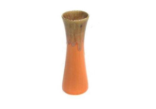 Fine Asianliving Thailändische Vase Keramik Orange 'Jahr 1950' Groß