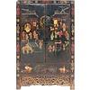 Fine Asianliving Armoire de Mariage Chinoise Antique 125 ans peinte à la Main L117xP46xH187cm