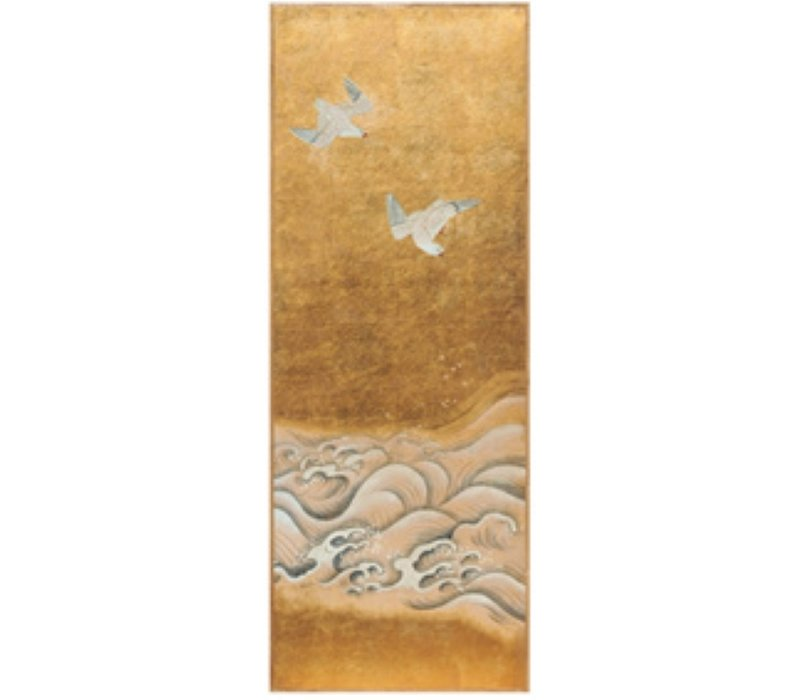 Wall Art Goldleaf and Handpainted Birds