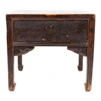 Table Chinoise Antique Brune