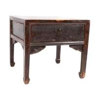 Antiker Chinesischer Nachttisch Tafel Handgefertigt Braun
