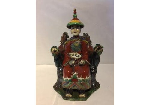 Fine Asianliving Chinese Emperor Dragon Handmade Porcelain Red