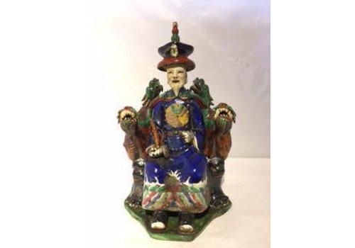 Fine Asianliving Chinese Emperor Dragon Handmade Porcelain Blue
