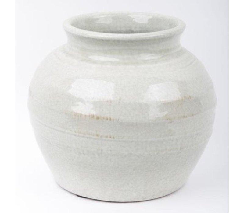 Vaso di Fiori in Porcellana Grigio
