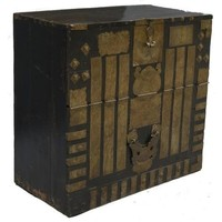 Cofre de almacenamiento coreano antiguo con bronce - Corea