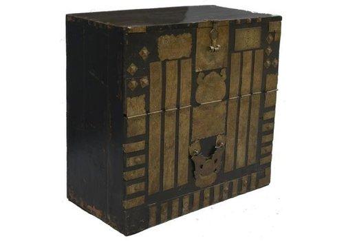 Fine Asianliving Cofre de almacenamiento coreano antiguo con bronce - Corea