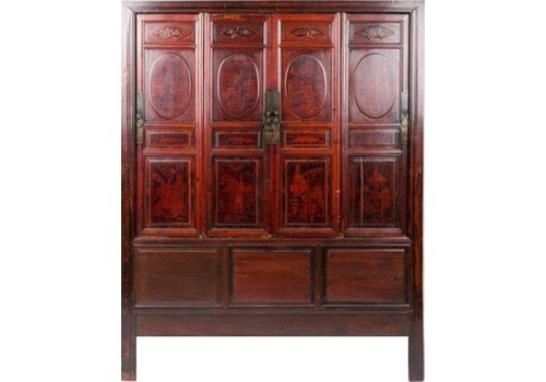 Fine Asianliving Antique Chinese Cupboard with Inside Drawers