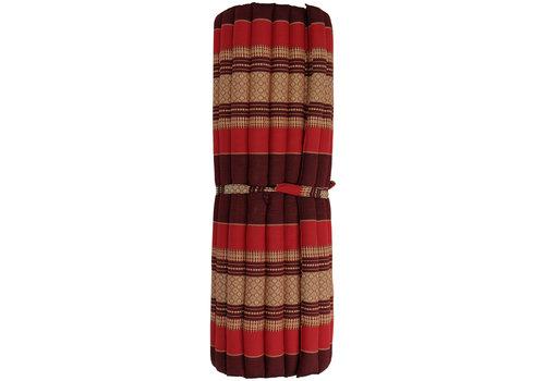 Fine Asianliving Thai Mat Rollable Mattress 200x100x4.5cm Burgundy Red