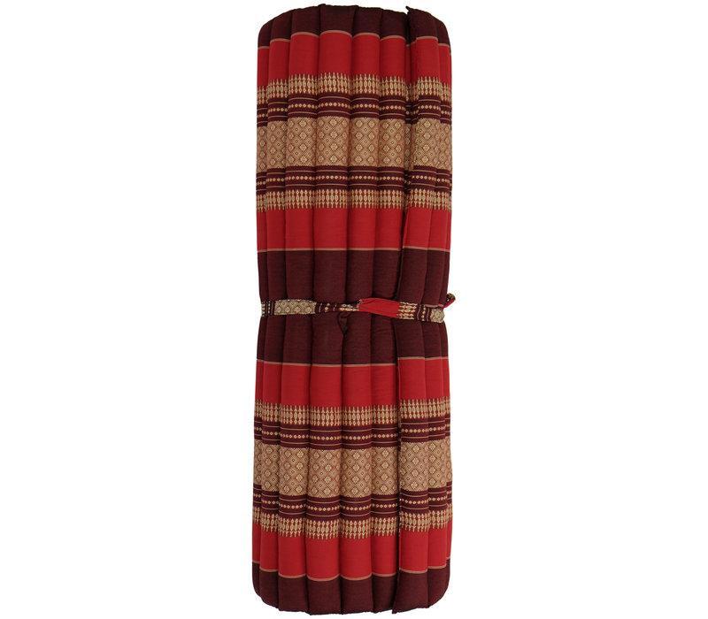 Thaimatte Rollbar Kapokfüllung 200x100x4.5cm Burgundy Red