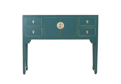 Fine Asianliving Chinese Console Table Jade Teal - Orientique Collection W120xD35xH80cm