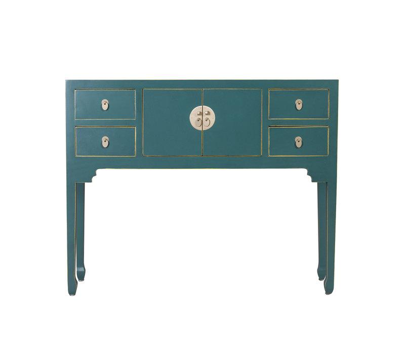 Chinesischer Konsolentisch Beistelltisch Jade Blau - Orientique Sammlung B120xT35xH80cm