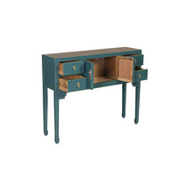 Chinese Sidetable Teal blauw - Orientique Collectie B100xD26xH80cm