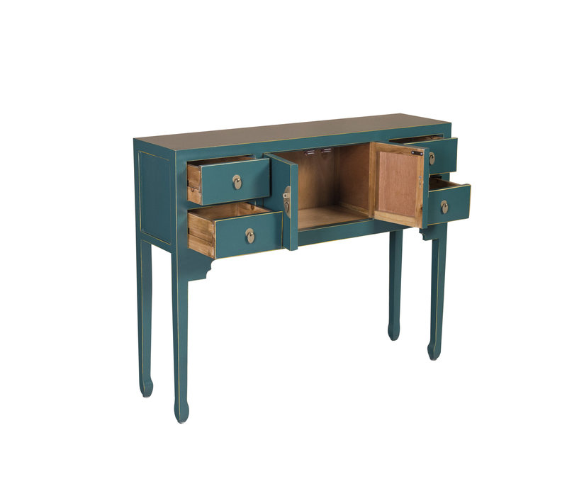 Chinese Sidetable Jade Teal - Orientique Collectie B100xD26xH80cm