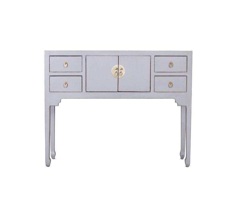 Chinese Sidetable Pastel Grijs - Orientique Collectie B100xD26xH80cm