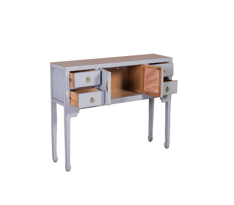Chinesischer Konsolentisch Beistelltisch Pastell Grau - Orientique Sammlung B100xT26xH80cm