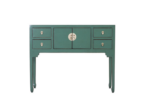 Fine Asianliving Chinese Console Table Pine Green - Orientique Collection W100xD26xH80cm