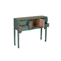 Chinesischer Konsolentisch Beistelltisch Tannengrün - Orientique Sammlung B100xT26xH80cm
