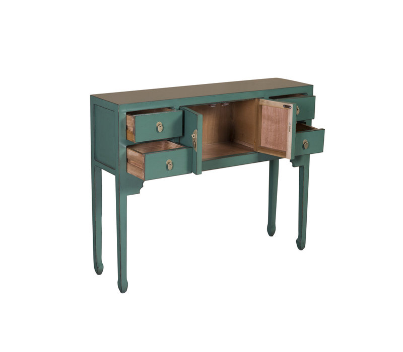 Chinese Console Table Pine Green - Orientique Collection W100xD26xH80cm