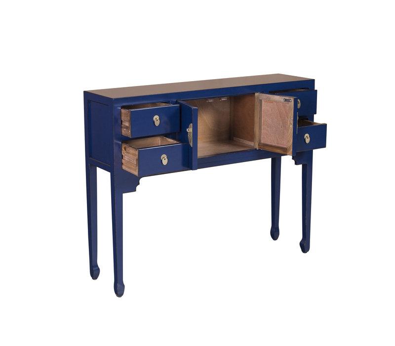 Chinesischer Konsolentisch Beistelltisch Nachtblau - Orientique Sammlung B100xT26xH80cm