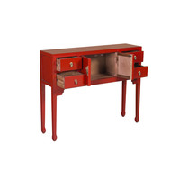 Chinese Sidetable Rood - Lucky Red - Orientique Collectie B100xD26xH80cm