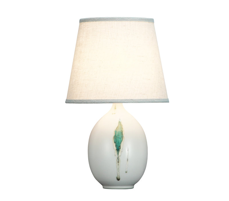 Lampada da Tavolo Cinese Contemporanea Foglie D28xA46cm