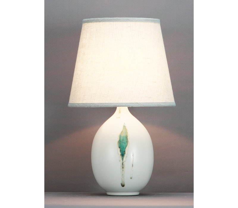 Chinese Table Lamp Contemporary Leaves D28xH46cm