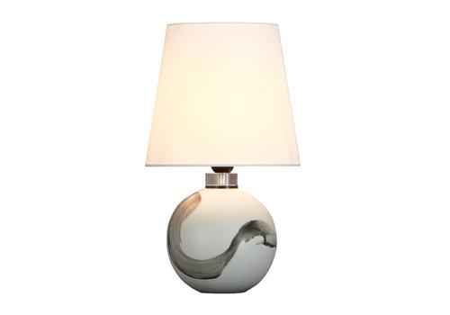 Fine Asianliving Lámpara de Mesa de Porcelana Contemporánea D.25xA43cm