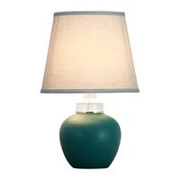 Chinese Tafellamp Mat Jadegroen D28xH44cm