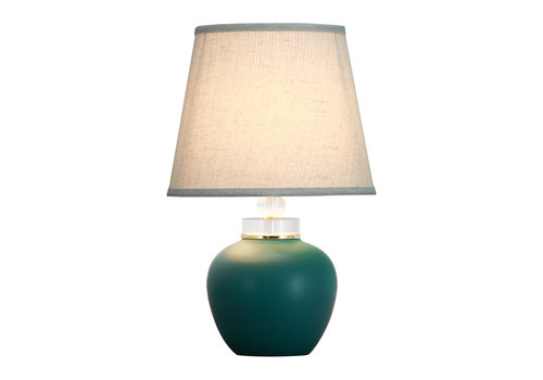 Fine Asianliving Lámpara de Mesa de Porcelana Jade Mate D.28xA44cm