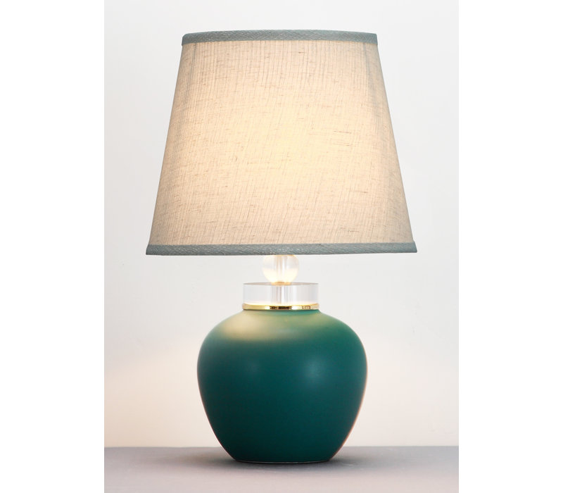 Chinese Table Lamp Matte Jade D28xH44cm