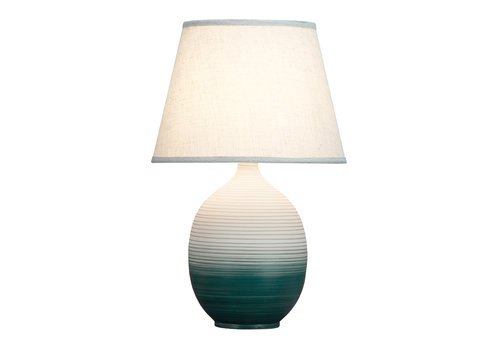 Fine Asianliving Chinese Table Lamp Relief Scenery D34xH53cm