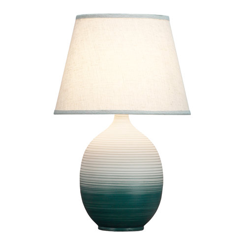 Fine Asianliving Chinese Table Lamp Relief Ombré D34xH53cm