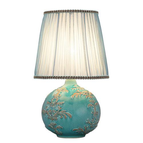 Fine Asianliving Chinese Table Lamp Relief Fleur de Lis D25xH42cm