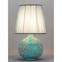 Chinese Table Lamp Relief Fleur de Lis D25xH42cm
