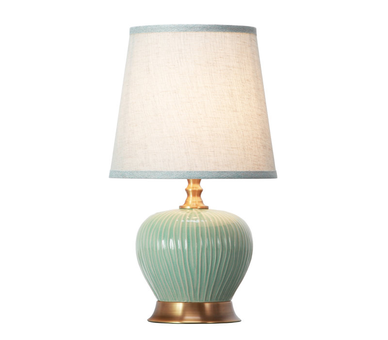 Table Lamp Porcelain with Lampshade Mint