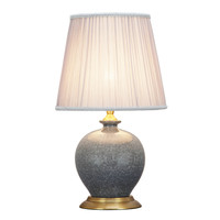 Oriental Table Lamp Porcelain Crackle Grey
