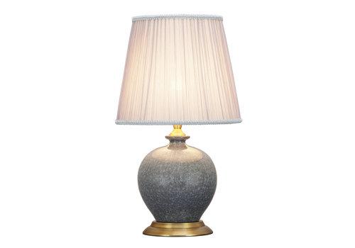 Fine Asianliving Oriental Table Lamp Porcelain Crackle Grey