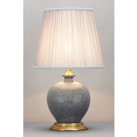 Oosterse Tafellamp Porselein Craquelle Grijs