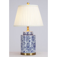 Chinese Table Lamp Porcelain with Lampshade Art