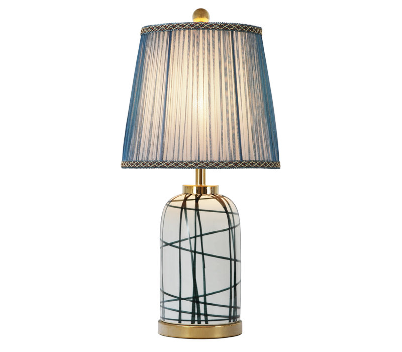 Chinese Tafellamp Modern Bronzen Voet D28xH57cm