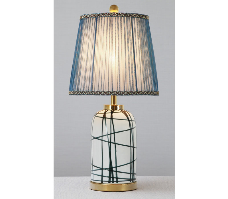 Chinese Table Lamp Contemporary Bronze Base D28xH57cm