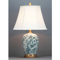 Lampada da Tavolo Cinese Bianco Arte Botanica D41xA66cm