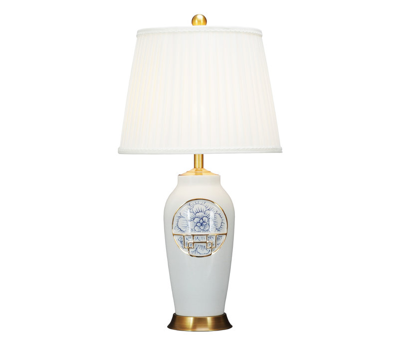 Chinese Table Lamp Contemporary Lotus D42xH81cm