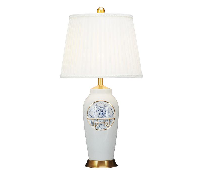 Lampada da Tavolo Cinese Contemporanea Loto D42xA81cm
