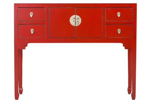 Fine Asianliving Chinese Sidetable Lucky Red - Orientique Collectie B100xD26xH80cm