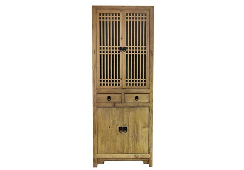 Fine Asianliving Chinese Bookcase Natural Yuwood W80xD38xH218cm