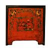 Fine Asianliving Antike Chinesische Truhe Handbemalt Rot Schwarz B89xT56xH88cm