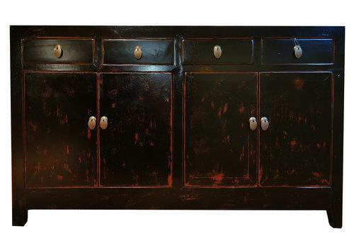 Fine Asianliving Antikes Chinesisches Sideboard Kommode Schwarz B155xT45xH94cm